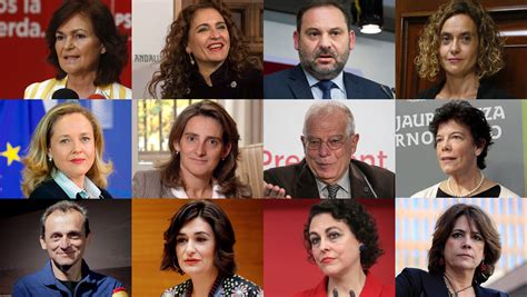 Las ministras  y ministros  del Gobierno de Pedro Sánchez