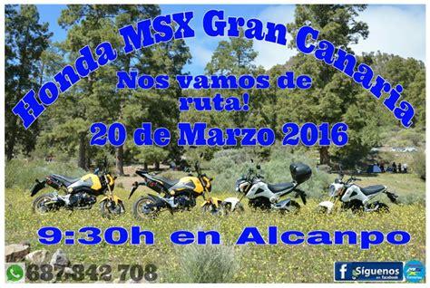 Las MSX salen de ruta por Gran Canaria el Domingo de Ramos ...