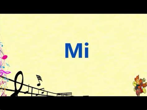 Las notas musicales para niños en español e inglés - YouTube