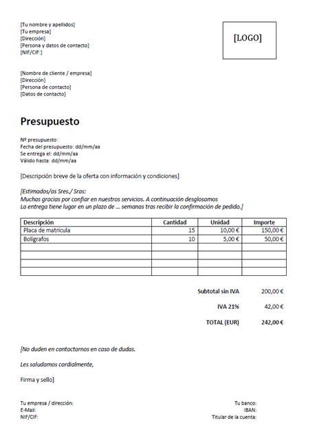 Las plantillas de presupuesto como herramienta básica - 1&1