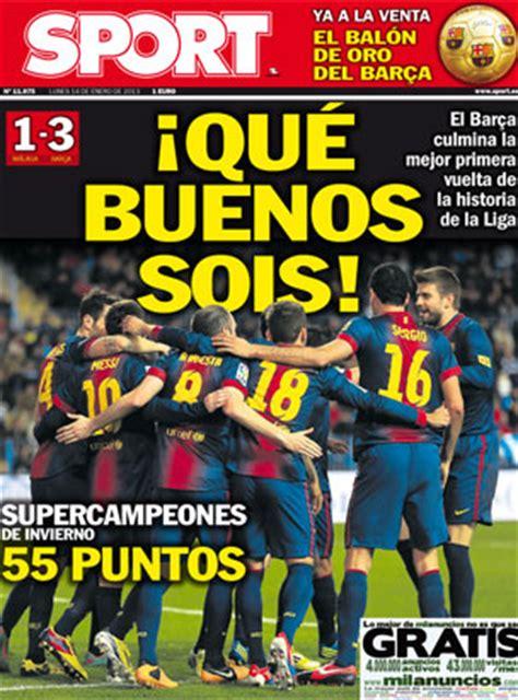 Las polémicas portadas de Sport sobre Madrid y Barça