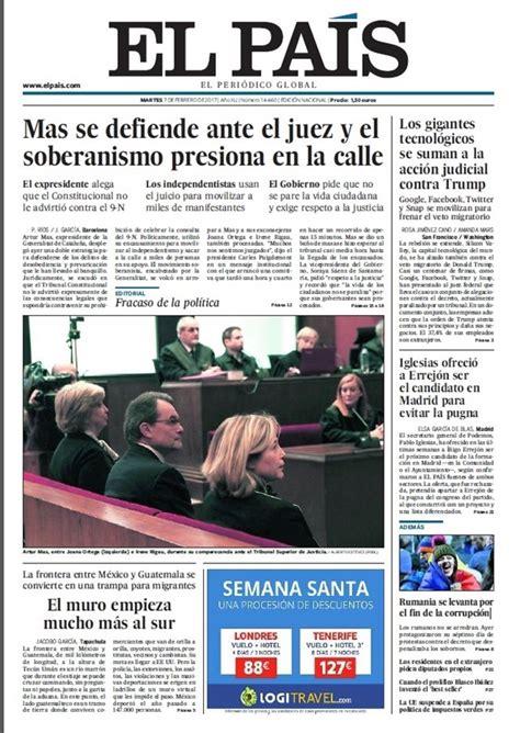 Las portadas de los periódicos de hoy, martes 7 de febrero ...