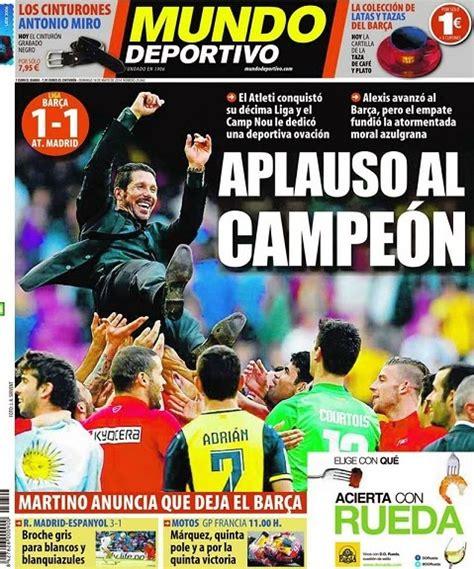 Las portadas del Atlético Madrid Campeón Liga Española ...