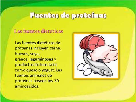 las proteinas en diapositivas