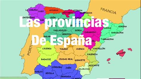 Las provincias de España - YouTube