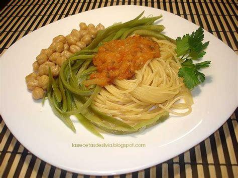 Las recetas de Silvia: Receta de tallarines con verduras y ...