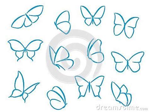 Las siluetas de las mariposas para los símbolos, los ...