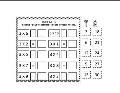 Las Tablas de Multiplicar - Material Didáctico Recortable ...