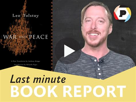 Last Minute Book Report: War & Peace | Read It Forward