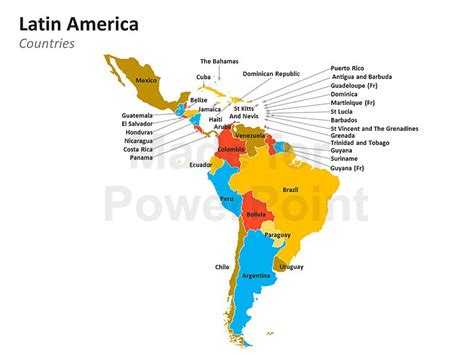 Latin America Map - Editable PPT
