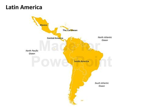 Latin America Map   Editable PPT