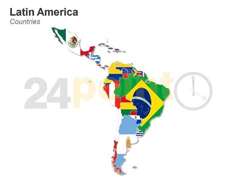 Latin America Map   http://www.24point0.com/ppt shop/latin ...