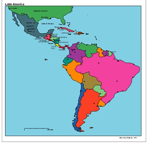 Latin America Map Region City | Map of World Region City