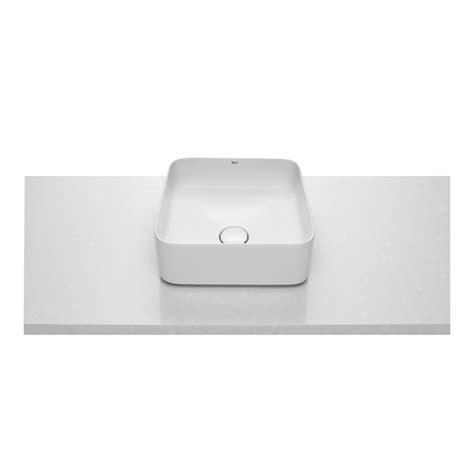 lavabo sobre encimera inspira 370x370 fineceramic square roca