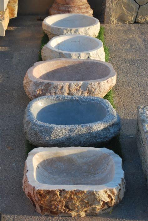 Lavabos rústicos de Piedra Natural │ Lavabos de mármol a ...