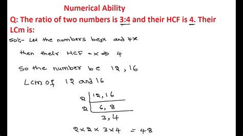 LCM And HCF Questions and Answers | The ratio of two ...