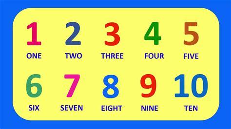Learn English Numbers 1 10 || Aprende Los Números en ...