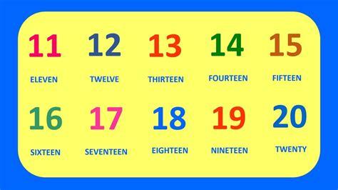Learn English Numbers 11 20 || Aprende Los Números en ...