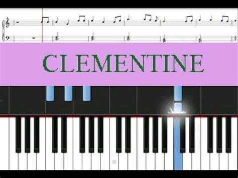 Learn Piano | Clementine Free Sheet Music - YouTube