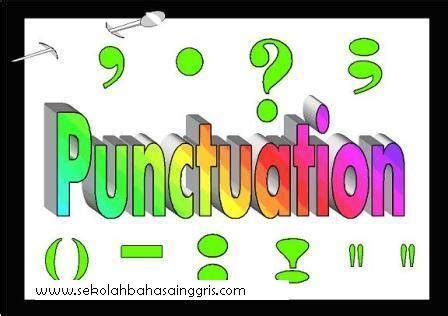 Learning And Practice English Punctuation Grammar Rules ...