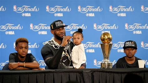 LeBron James celebrates Father s Day with NBA title