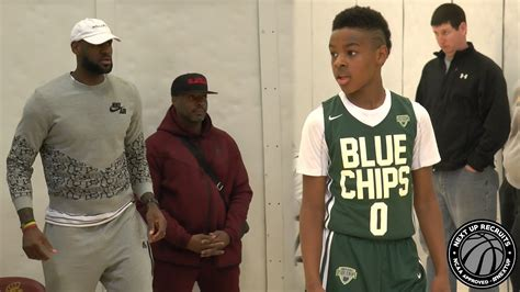 LeBron James Jr. drops DIMES in-front of Dad!!! Bronny ...