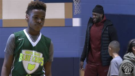 LeBron James Jr. shows off High IQ with King James ...