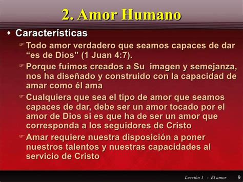 Leccion 1 Q 2 El Amor Acv Mr