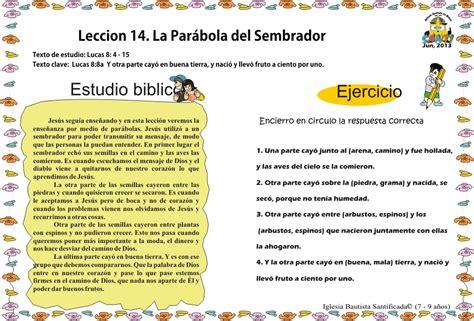 Leccion 14. Parábola del Sembrador « Iglesia de Niños