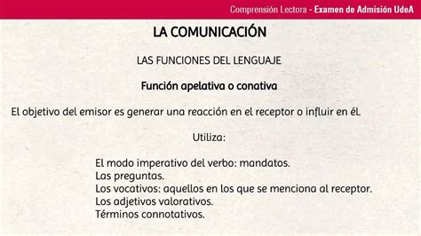 Lección 78: Funciones del lenguaje: Función Apelativa o ...