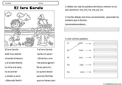 lecturas infantiles | letra r suave - Web del maestro