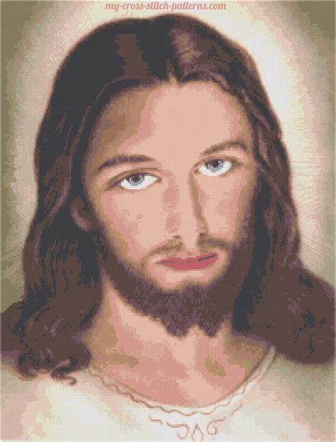 Leggi argomento   Volto di Gesù a colori schema punto ...
