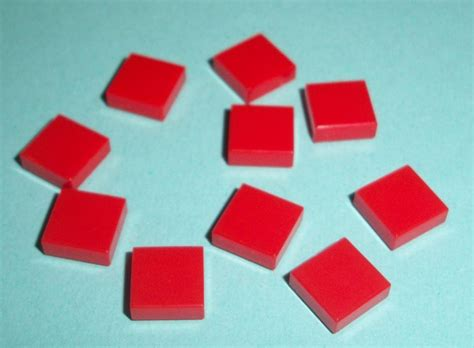 Lego - 10 1x1 Stud Delgado Azulejo Suave Ladrillo-ID 3070 ...