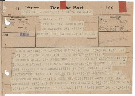 LeMO-Objekt: Dokument Telegramm des Bayerischen Landtages