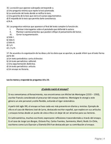 Lenguaje 3° medio   Guía 7 de Argumentación  el Ensayo