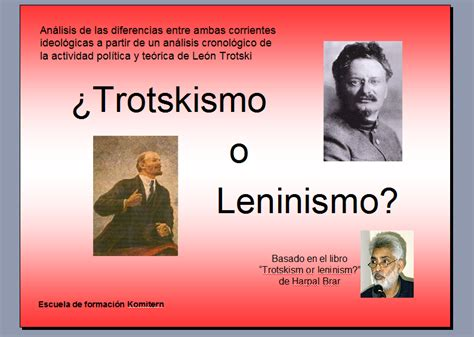 leninismo o trotskismo por harpal brar - Taringa!