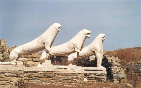leones de delos   Terraza de los Leones, Grecia, Islas ...