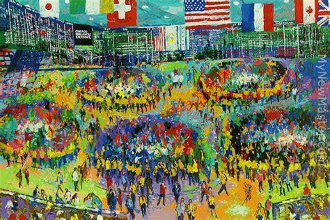 leroy neiman The Chicago Mercantile Exchange Painting