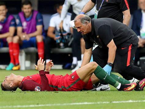 Lesión de Cristiano Ronaldo fotos final Eurocopa ...