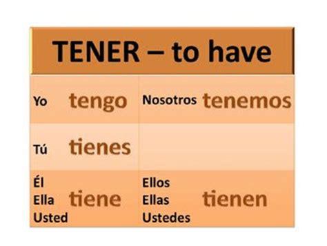 Let's speak Spanish: A new verb : tener