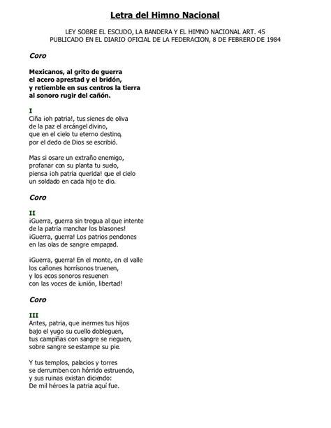 Letra Del Himno Naciona11984