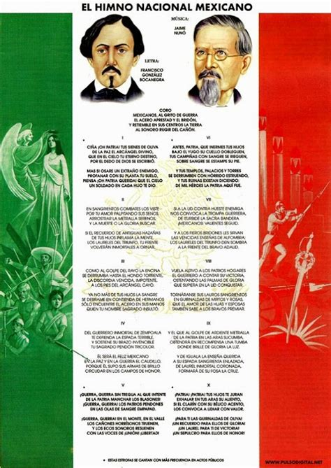 Letra Del Himno Nacional Mexicano | Car Interior Design