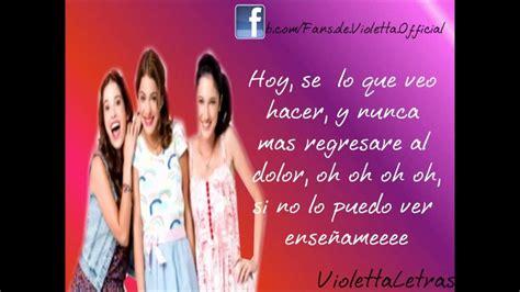 Letra Junto A Ti: Violetta,Francesca y Camila  Martina ...