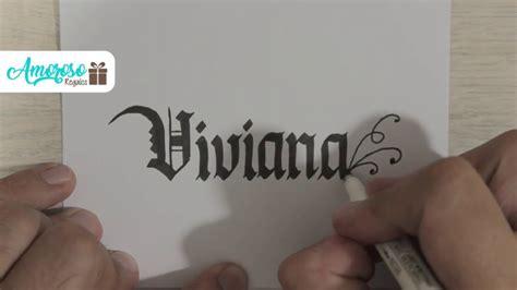 Letra y decoración del nombre  Viviana  en letra gotica ...