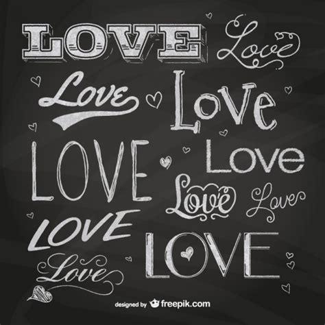 Letras amor Pizarra   Descargar Vectores gratis