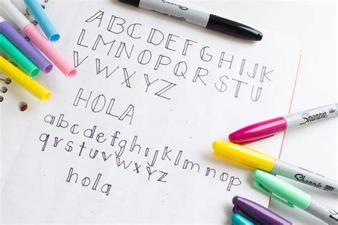 Letras bonitas #1, decora tus cuadernos | HiIAmSayilHiIAmSayil