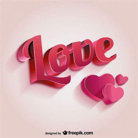 Letras de amor 3D   Descargar Vectores gratis