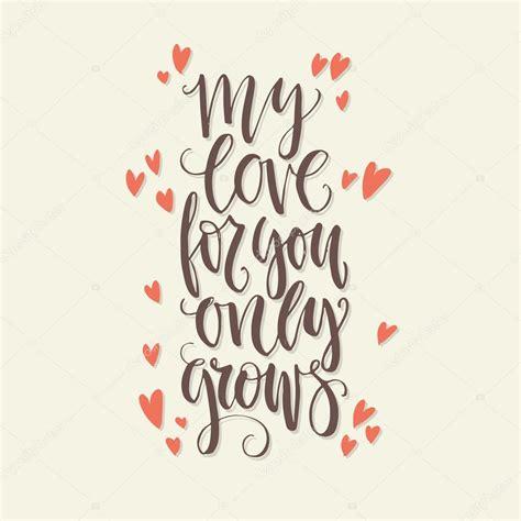 Letras de amor cresce — Vetores de Stock ...