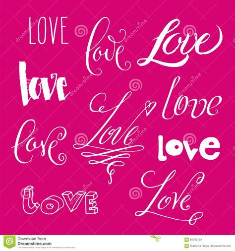 Letras de amor diversas ilustración del vector. Imagen de ...