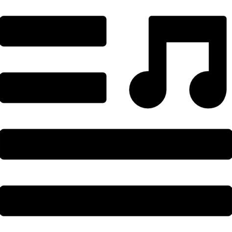 Letras de canciones - Iconos gratis de música
